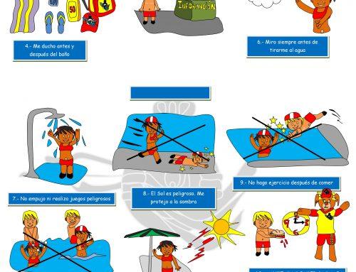 Campaña de prevención de accidentes en piscinas