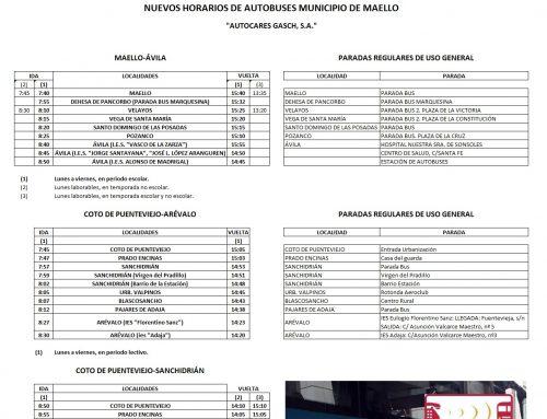 Servicio de transporte Municipio de Maello