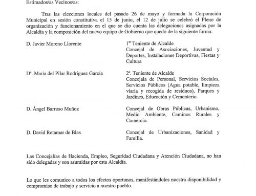 Concejalías Ayuntamiento de Maello